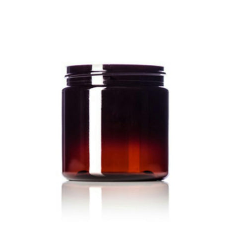 4oz Amber PET Single Wall Plastic Jars - Set of 25