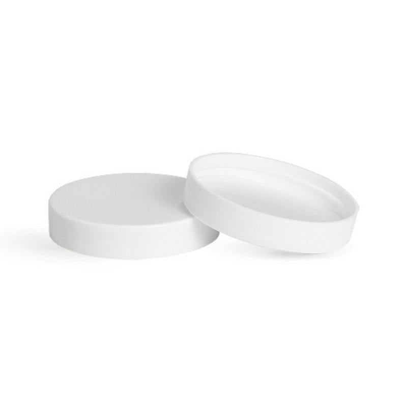 4oz White Unlined Jar Caps - Cap Size: 58-400 - Set of 25