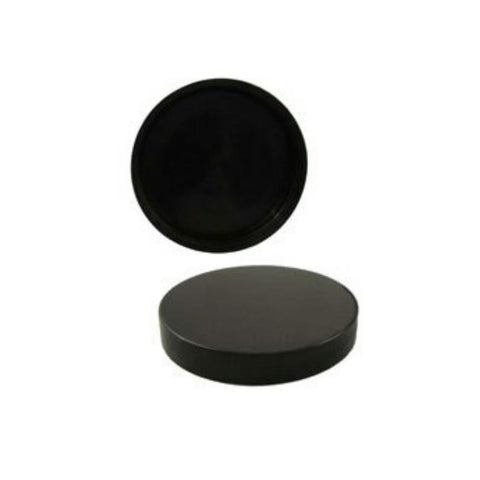 4oz Black Unlined Jar Caps - Cap Size: 58-400 - Set of 25