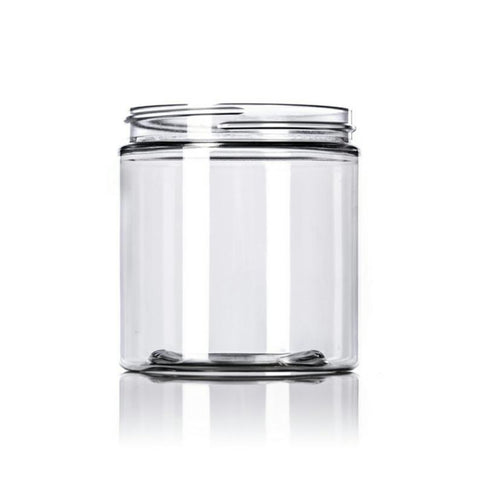 8oz Clear PET Single Wall Plastic Jars - Set of 25