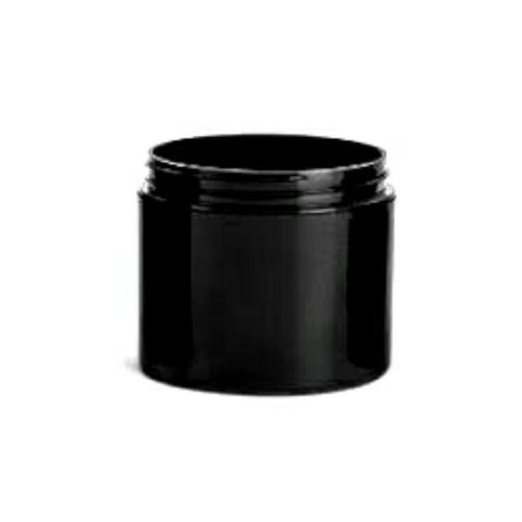 4oz Black PET Single Wall Plastic Jars - Set of 25