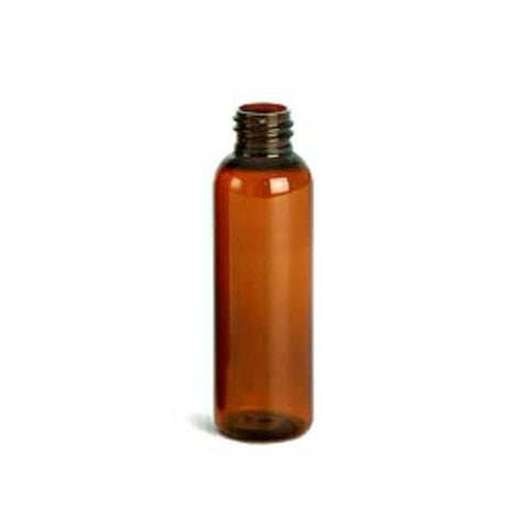 4oz Amber Clear Cosmo PET Plastic Bottles - Set of 25
