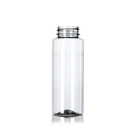 8oz Clear PET Plastic Cylinder Bottles - Set of 25