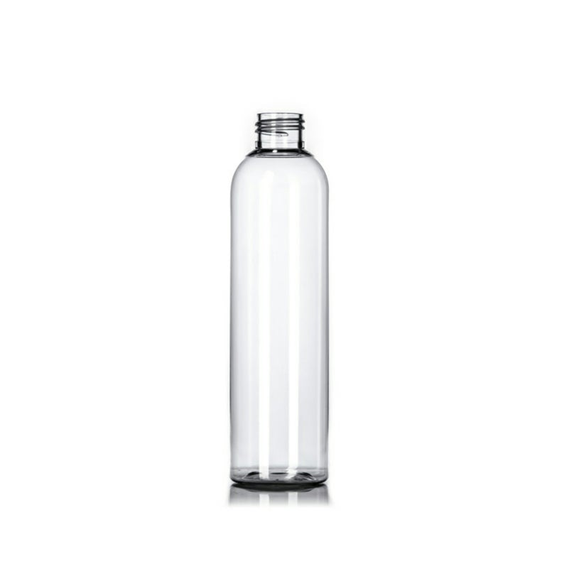 8oz Clear Cosmo PET Plastic Bottles - Set of 25