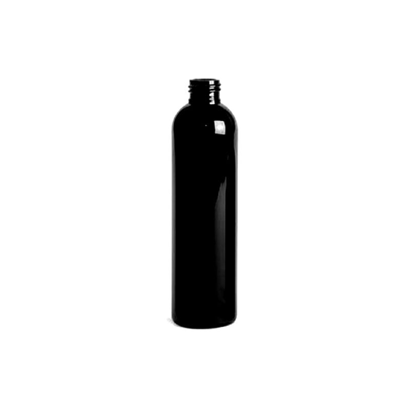 8oz Black Cosmo PET Plastic Bottles - Set of 25