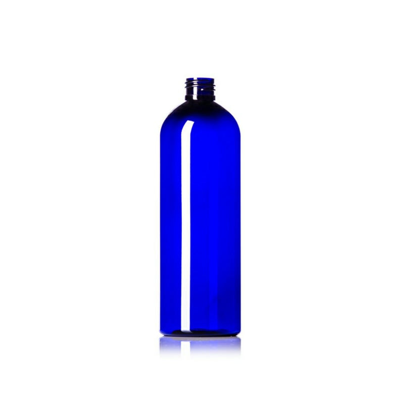 16oz Blue Cosmo PET Plastic Bottles - Set of 25