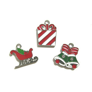 Christmas Cheer Gift Box Santas Sleigh Bells Charms