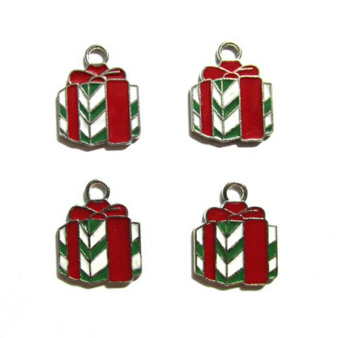 Christmas Stripe Gift Box Charms