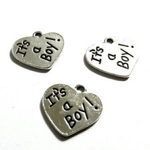 Its a Boy Silver Tone Charms