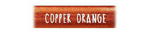 COPPER ORANGE Extra Fine Glitter