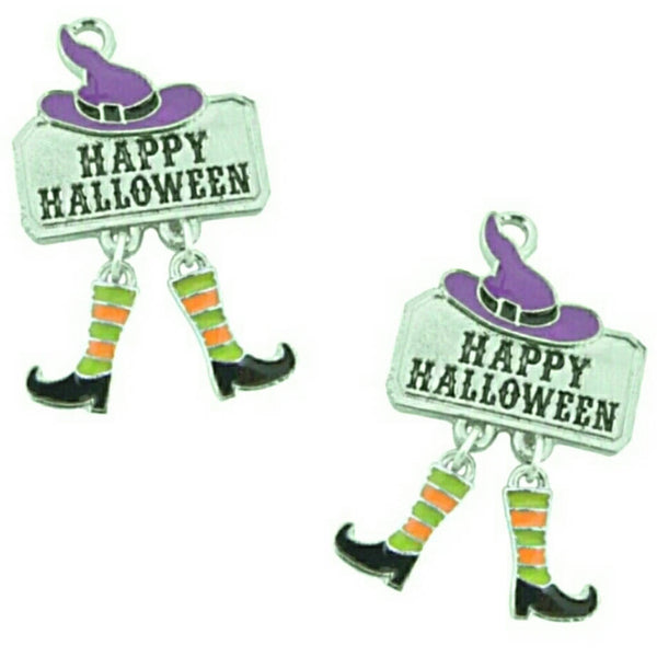 Happy Halloween Expression Dangle Boot Charms
