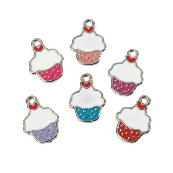 Mini Frosted Cupcake Charms