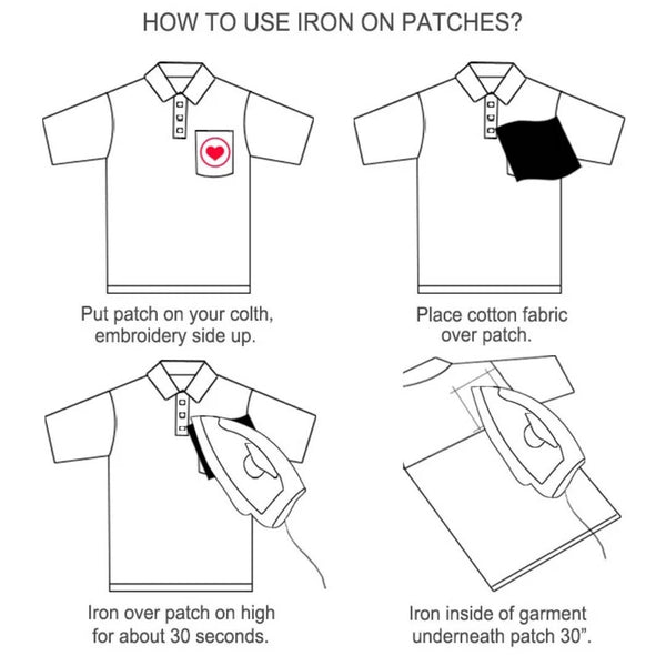 Rainbow Iron-On Patches