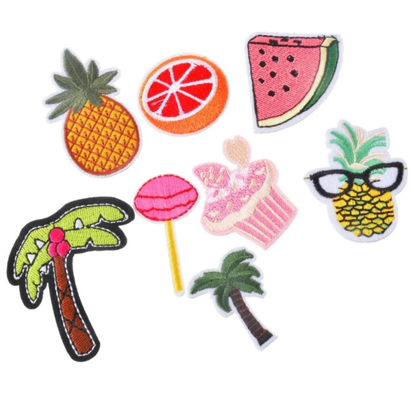 Palm Trees Cupcake Watermelon Lollipop Pineapple Orange Iron-On Patches