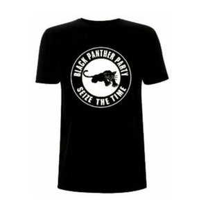 Black Panther Party Seize The Time Black Crew Neck Unisex Tshirt