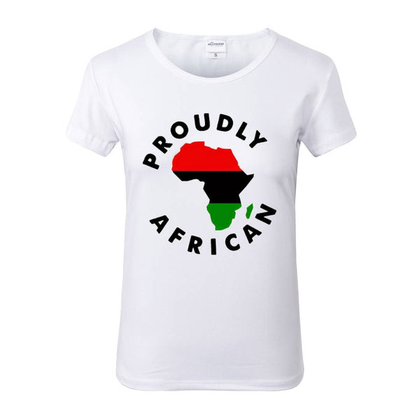 PROUDLY AFRICAN Liberation White Crew Neck Tshirt