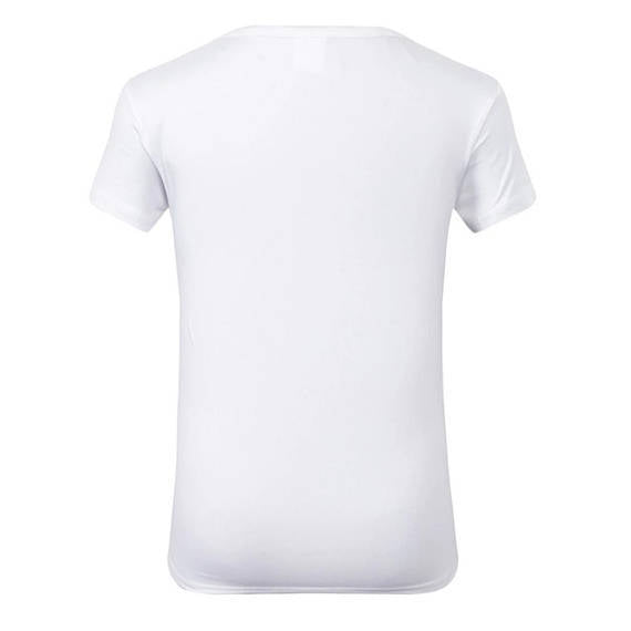 Natural Socialite Fashion White Crew Neck Tshirt