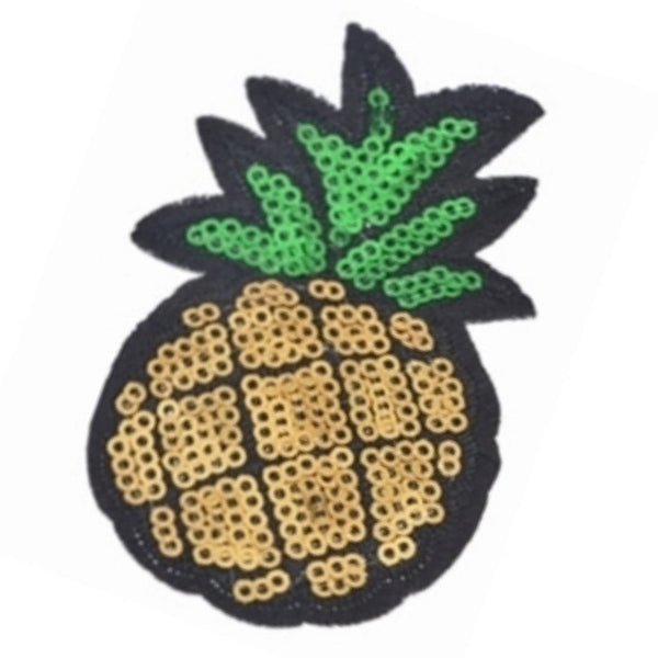 Pineapple Banana Ice Cream Cone Sequins Iron-On Patches