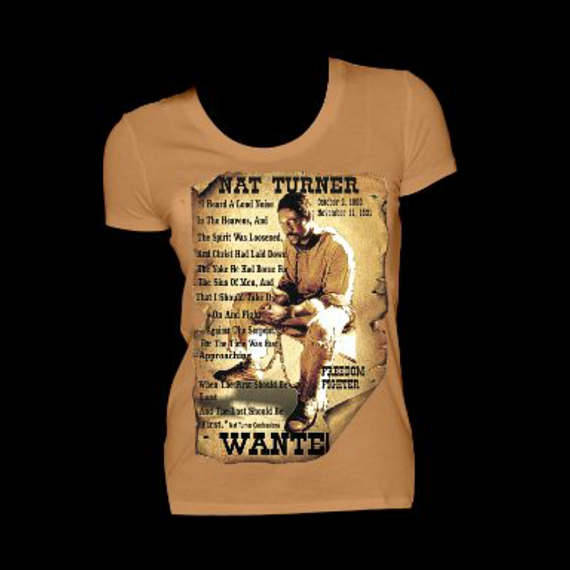 Nat Turner Light Brown Fitted Crew Neck Tshirt