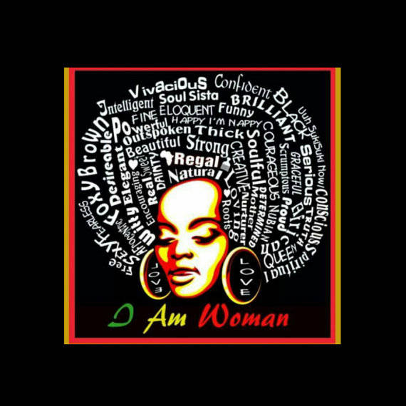 I Am Woman Black Crew Neck Unisex Tshirt