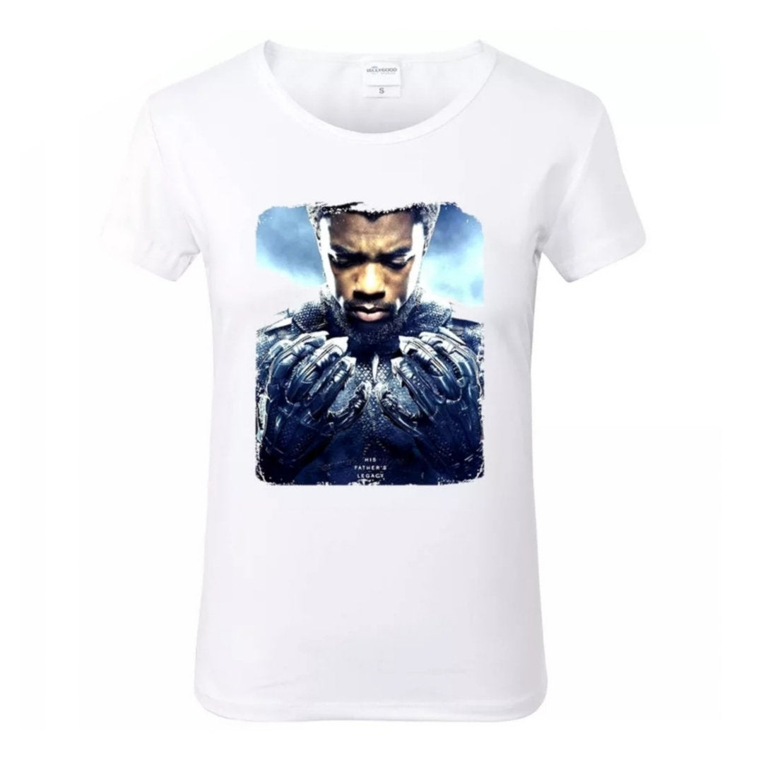 T'Challa Black Panther Wakanda His Highness White Crew Neck Tshirt