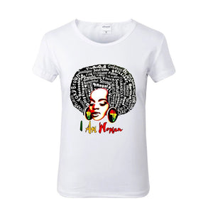 I AM WOMAN White Crew Neck Tshirt