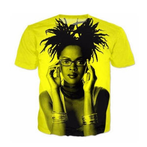 Queen of Excellence L Boogie Neon Yellow Crew Neck Unisex Tshirt