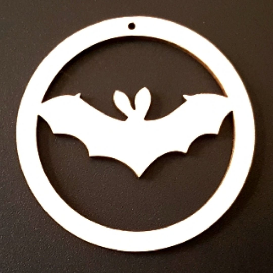 HALLOWEEN BAT Unfinished Ready to Decorate Natural Wood Cutout