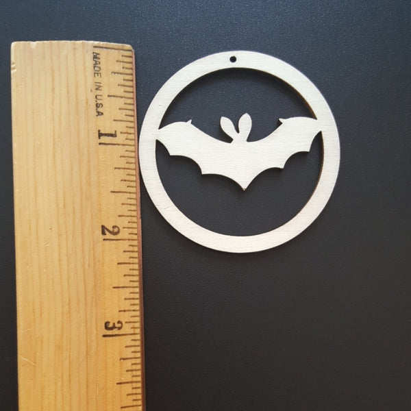 Unfinished Ready to Decorate Natural Wood Halloween Bat Cutout DIY Wood Craft Supplies Wedding Favors Party Favors Wood Earrings