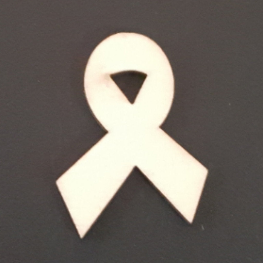 AWARENESS RIBBON Unfinished Ready to Decorate Natural Wood Cutout