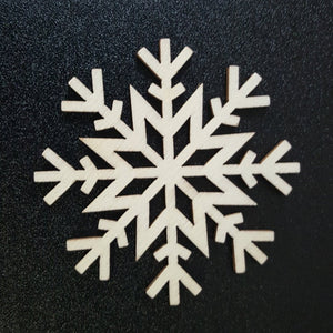 Unfinished Ready to Decorate Natural Wood SNOWFLAKE Cutout DIY Wood Craft Supplies Wedding Favors Party Favors Wood Earrings