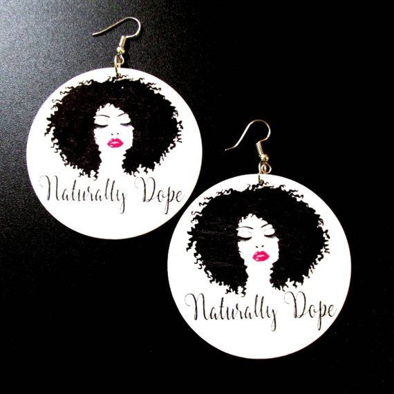 Naturally Dope Statement Dangle Wood Earrings