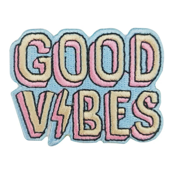 GOOD VIBES Iron-On Patches