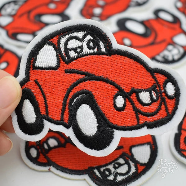 Red Bettle Car Iron-On Patch
