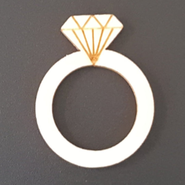 DIAMOND RING Unfinished Ready to Decorate Natural Wood Cutout