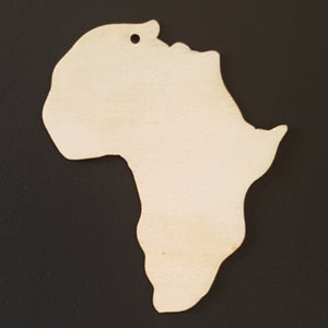 AFRICA Unfinished Ready to Decorate Natural Wood Cutout