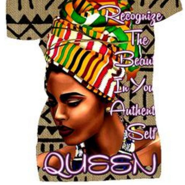 Beautiful Authentic Queen Fitted White Crew Neck Tshirt