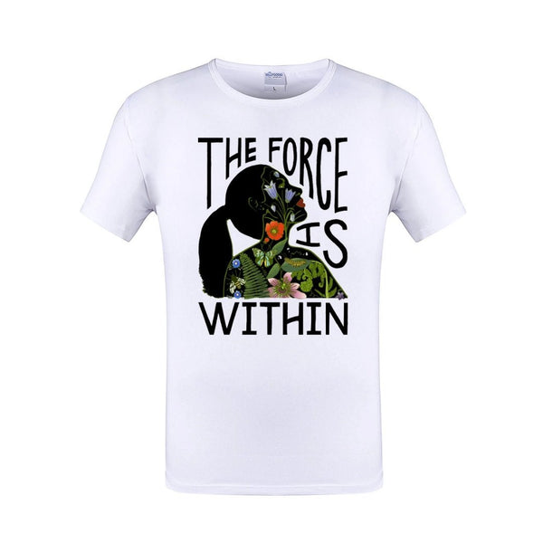 The Force is Within Crew Neck Unisex White Tshirt