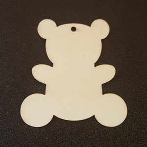 Unfinished Ready to Decorate Natural Wood TEDDY BEAR Cutout DIY Wood Craft Supplies Wedding Favors Party Favors Wood Earrings
