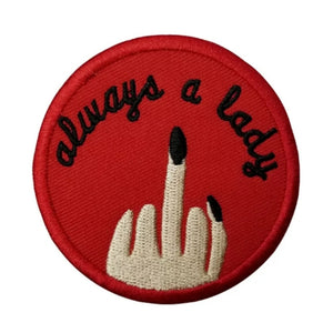 Always a Lady Iron-On Patch