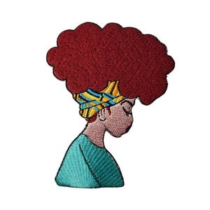 Afro Queen Lady Iron-On Patch