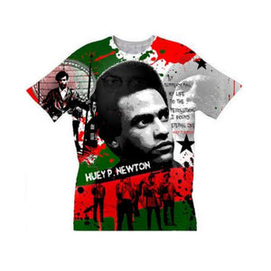 Huey P Newton Black Panther Revolutionary Crew Neck Unisex Tshirt
