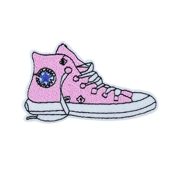 Pink Sneaker Iron-On Patch