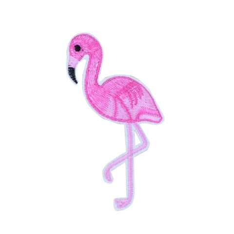 Pink Flamingo Iron-On Patch