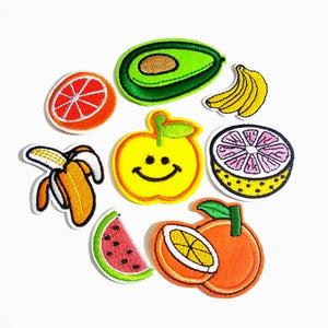 Fruits and Veggies Iron-On Patches