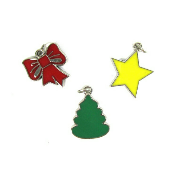 Christmas Tree Star Bow Charms