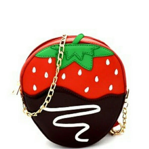 Chocolate Dipped Strawberry Cross Body Novelty Handbag