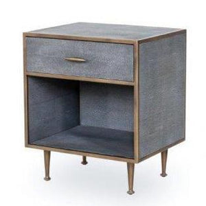 Azure Luxury | Bedside Table | Faux Shagreen, Bedside Cabinet - Hickory Furniture