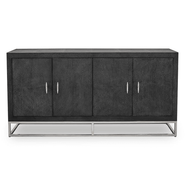 Azure Luxury | Black Sideboard | Faux Shagreen, Sideboard - Hickory Furniture