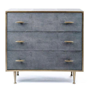 Azure Luxury | Chest of Drawers | Faux Shagreen, Chest of Drawers - Hickory Furniture